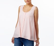 Style & Co Petite Button-Front Blouse, Sea Lily
