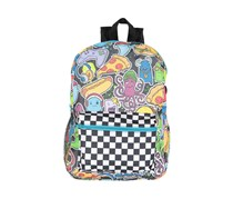 Fashion Angels Junk Food Monsters Backpack, Yellow/Black/White/Blue