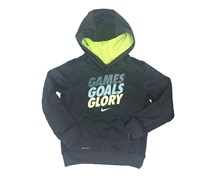 Nike Therma-FIT 'Games Goals Glory' Hoodie, Black Heather