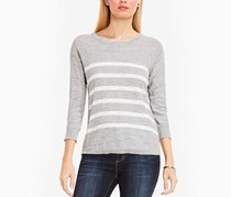 Vince Camuto Lightweight Striped Top, Grey Heather