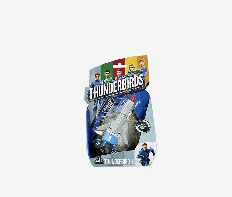 Thunderbirds Vehicle TB1 Thunderbirds 1 by VIVID Toys, Grey/Blue