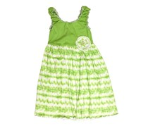 Mignone Kids Girl's Tie Dye Sleeveless Dress, Green