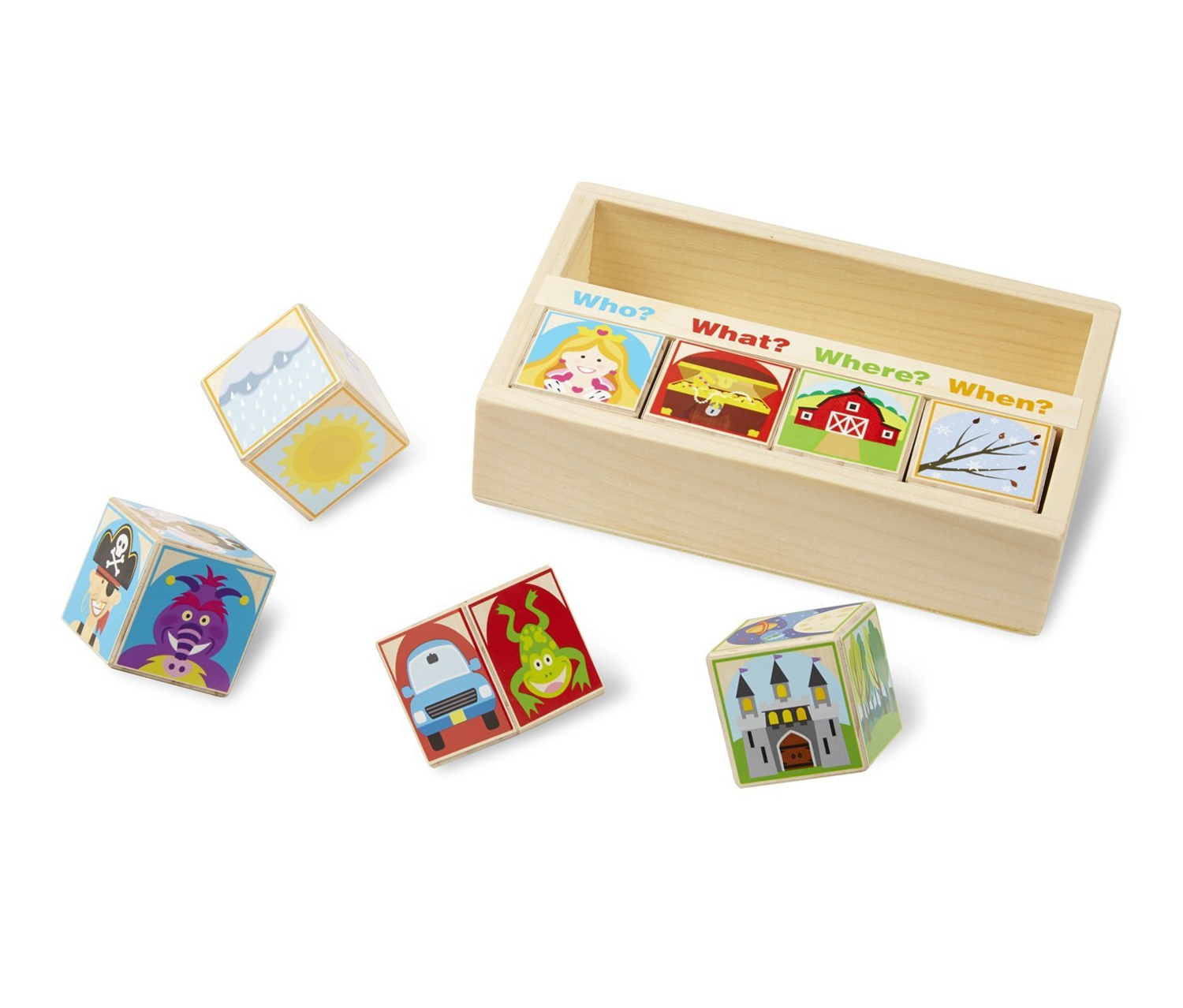 Educational Toys Brands : Wooden story blocks educational toy brands for less
