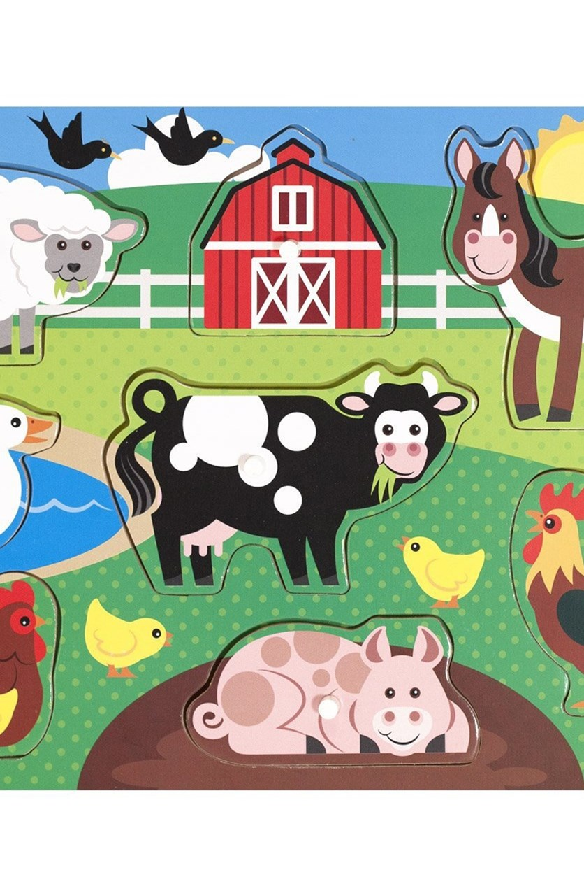 Melissa & Doug Farm Wooden Peg Puzzle