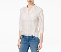 Cotton Gingham-Print Shirt, Soft Petal Combo