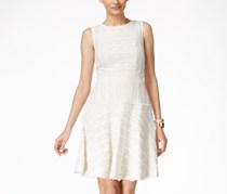 Vince Camuto Lace Fit and Flare Dress, Ivory