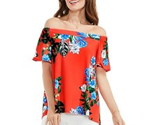 Vince Camuto Off-The-Shoulder Top, Red Orange