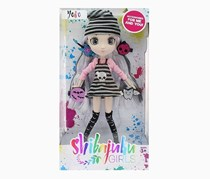 Shibajuku Girls Yoko Fashion Doll, Black/Pink/Grey