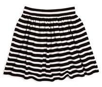 Toddlers Coreen Stripe Skirt, Black/White