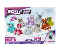 Jakks Paciffic 3DIT Girl Animal Creator Mega Refill Pack, White/Pink