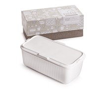 Rosanna White Bungalow Storage Container With Lid, White