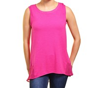 Adrienne Vittadini High-Low Sleeveless Top, Pink Rouge
