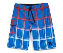 Hurley 'Puerto Rico' Plaid Board Shorts, Blue