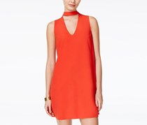 Xoxo Juniors Choker Mini Dress, Red Orange