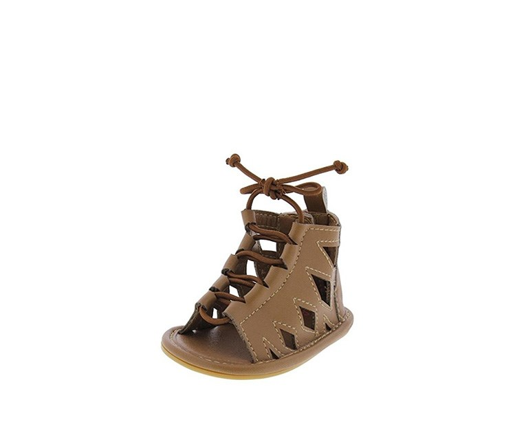 Guille Gladiator Lace up Sandals, Cognac