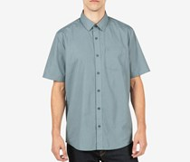 Volcom Men's Everett Shirt, Ash Blue
