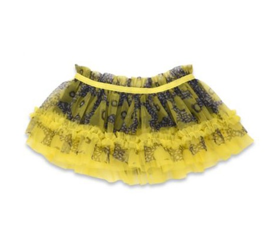 Baby Starters  Flower Print Tutu Skirt, Yellow/Black
