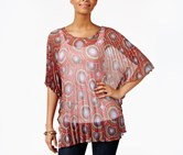 Collection XIIX Medallion Pleated Tunic Timeless, Ruby