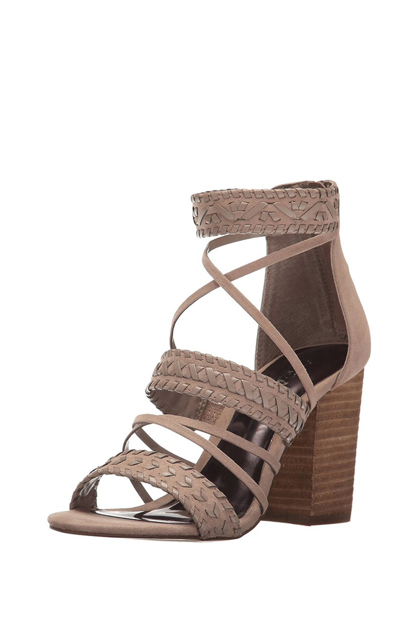 Women's Java Heeled Sandals, Light Doe