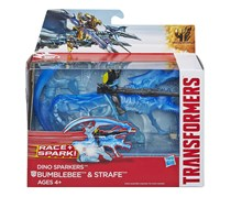 Transformers Bumblebee and Strafe Figures, Blue