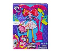 My Little Pony Equestria Girls Pinkie Pie Doll With Markers and Microphone, Pink/Purple/White