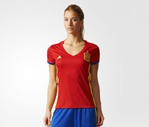 Women Football Spain Home Replica Jersey, Scarlet/Yellow