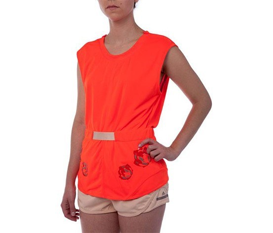 Women's Climachill Tee, Solar Red
