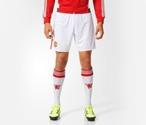 Adidas Manchester United FC Home Replica Shorts, White/Red
