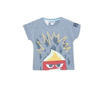 Reebok Kids Girl Inside Out Anger T-Shirt, Medium Grey