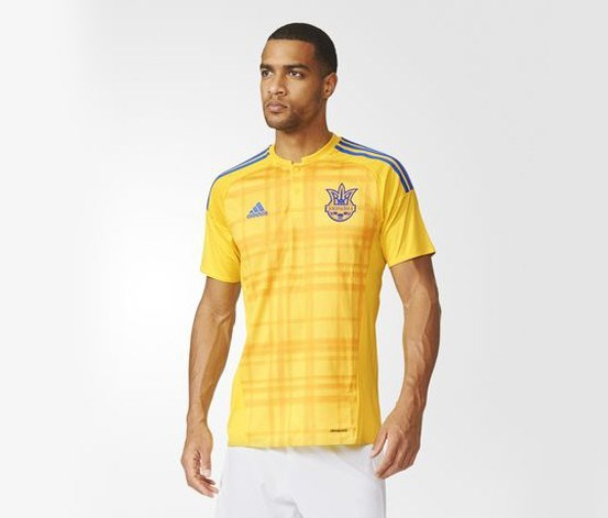 Ukraine Home Replica Jersey, Yellow/Bold Gold/Blue