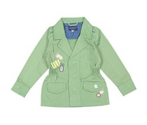 Andy & Evan Military Inspired Patchwork Jacket, Light Green