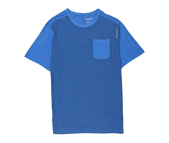 Men's Pigment Dye Crew Neck T-Shirts, Blue
