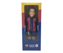 FCB Dolls FC Barcelona Realistic Figure Iniesta Player, Blue/Red