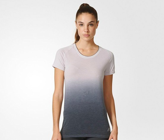 Women's Prime Knit Dip Dye Tee, Ice Purple/Black