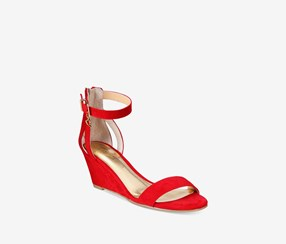 Thalia Sodi Areyana Two-Piece Wedge Sandals, Red