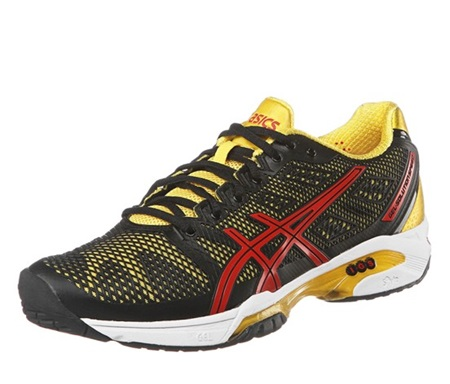 brand new 9cb35 551a6 Asics Men s Gel-Solution Speed 2 Tennis Shoes,Black