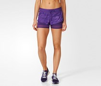 Adidas Women's Run 2 In 1 Short, Purple