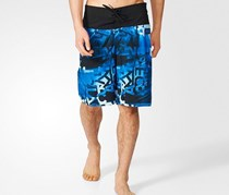 Adidas Men's Allover Print Water Pants, Blue/Black