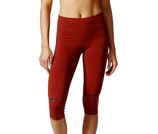Women Chill Three-Quarter Tights, Mystery Red