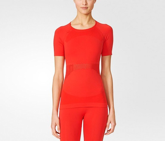 Women's Essential Mesh Tee, Red