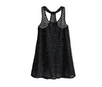 Breaking Waves Girls Crochet Cover-Up, Black