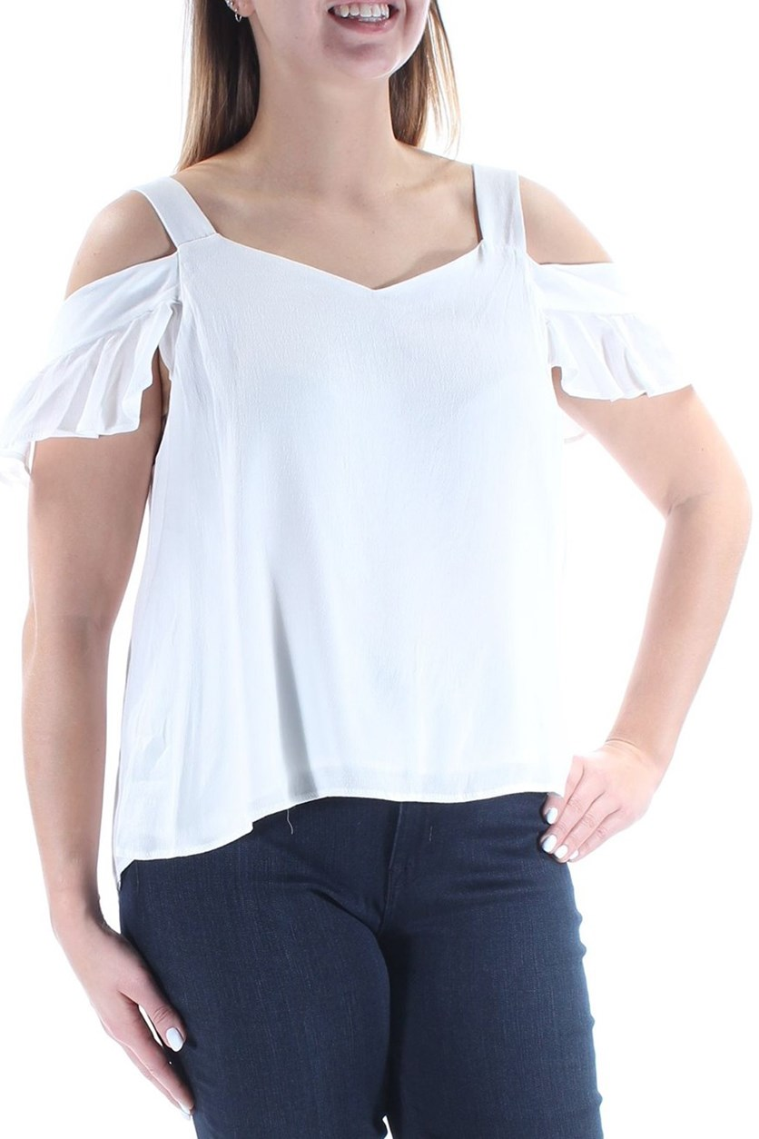 Annie Cold-Shoulder Top, White