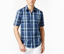 Alfani Big and Tall Montoro Plaid Shirt, Multi