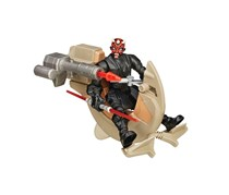 Star Wars Hero Mashers Sith Speeder and Darth Maul, Black