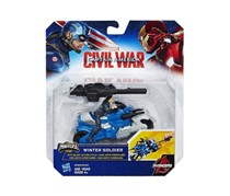 Marvel Civil War Winter Soldier with Blast-Action Cycle