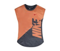 Nike Splice Heather Dri-fit T-Shirt, Orange/Grey