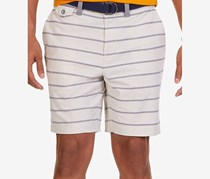 Nautica Men's Modern-Fit Stripe Oxford Shorts, Stone Pier