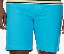 Nautica Mens Flat-Front Cotton Deck Short, Calypso Blue