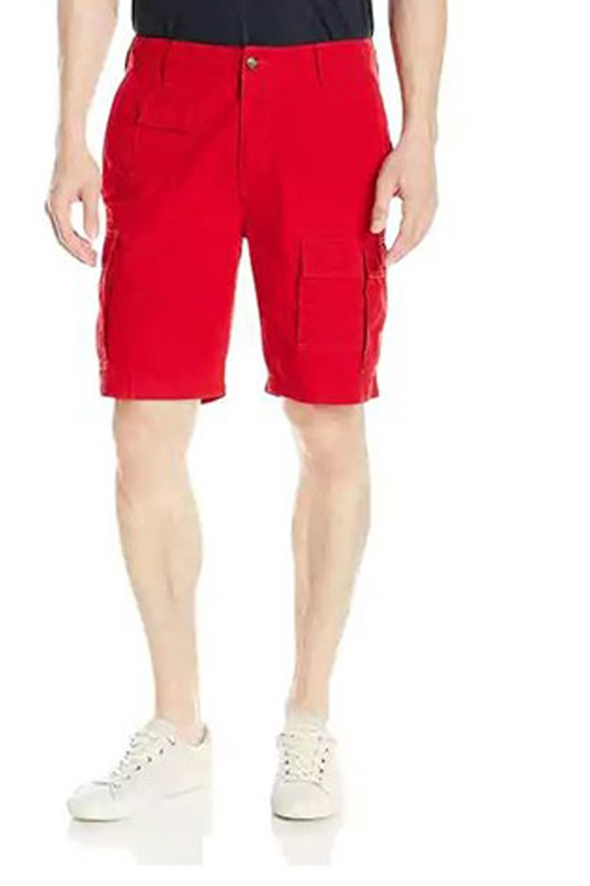 Men's Navigator Cotton Cargo Short,  Red