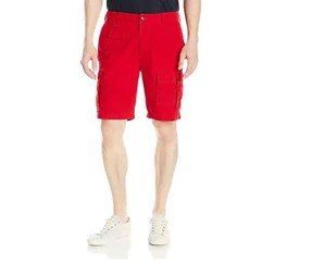 Nautica Men's Navigator Cotton Cargo Short, Nautica Red